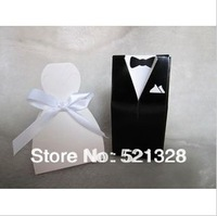 100pcs Bride and Groom Wedding Favor Boxes gift box candy box European candy box XH013