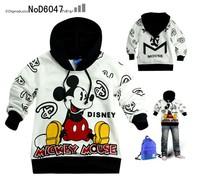 free shipping   spring children Sweatshirts  brand mickeys  boy's hoodies long-sleeved T-shirt  best quality
