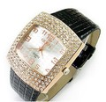 NEWEST!valentine's gift decoration women all-match strap rhinestone big dial watch fashion vintage brief women's watch