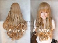Aisaka Taiga of 80cm blonde culy wave anime wig.Free shipping