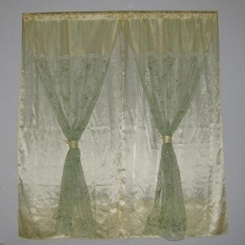 Rod paillette green - lace curtain finished product window rustic diy compartmentation  free shipping 2m*2m