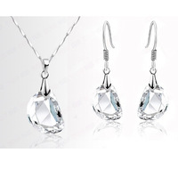 Wholesale  White Gold Plated Austrian Crystal Rhinestone Fashion Jewelry Sets Make With Swarovski Elements 1124