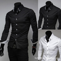 casual blouse men camisa Man Dress shirts striped lining  Slim casual long-sleeved shirt outstanding polo shirt M L XL XXL 5006