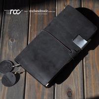 Letter genuine leather handmade tsmip notepad travel notebook loose-leaf