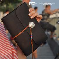 Tn travel tsmip handmade genuine leather diary cowhide loose-leaf notebook