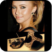 Min. order is $15 (mix order) Luxury aq0288 vintage black glaze stud earring