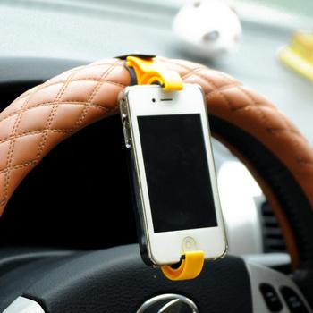Min. order is $15 (mix order) multifunction fitted seat car steering wheel mobile phone holder navigation frame 3523 color black