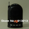HY-Q7 Portable Mini Castle Mobile Speaker Music Player Support TF Card/ FM (Black) for 2013 best gifts