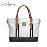 Intended Qax 2013 new European and American women bag casual black and white mixed colors bag shoulder bag Messenger bag DJ2005