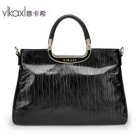 Italian Qax handbags 2013 new fashion handbag bag handbag Ms. oil wax leather multi-function bag 202