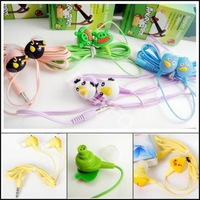 FreeShipping By DHL  3.5mm Newly cute Cartoon small bird  Earphone Headphone in-ear earphone 100pcs/lot
