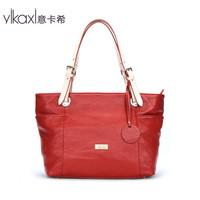 Italian Cashin leather handbags summer new shoulder bag red handbag European and American high-capacity DJ2012