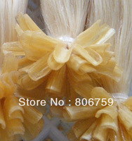 "1g/s 18"" 20"" 22"" 24"" Keratin nail tip hair/ U tip hair extension #60 lightest blond color 100gram/pack STOCK"