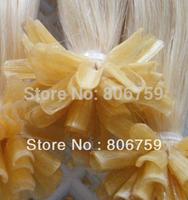 "1g/s 18"" 20"" 22"" 24"" Keratin nail tip hair/ U tip hair extension #60 lightest blond color 100gram/pack STOCK"
