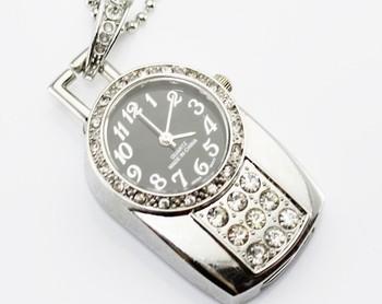 Diamond Fashionable Watch Model 4GB 8GB 16GB USB 2.0 Flash Memory Stick Pen Drive Thum/Car/Pen U Disk
