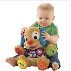 Fisher-Price Fisher price English version baby toy music dog plush cloth doll musical dog toys Singing English Songs(China (Mainland))