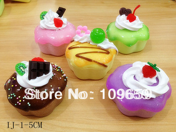 Free Shipping,plum blossom shape cake Charms, Squishies Cell Phone Straps, Wholesale,20pcs/lot CY-SQ12
