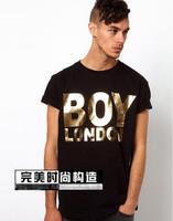 fashion men women gold letter print short sleeve t-shirt shirts lover tops tees black white