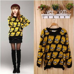 East Knitting NP-087 Simpson head sweaters poncho pullover knit cardigan 2013 new sweatshirt free shipping(China (Mainland))