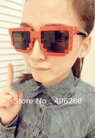 stylish  Sunglasses  Cheap Plastic Brand Designer Mosaics unisex Sunglasses   2013 new free shipping