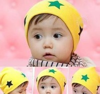 5pcs/lot free shipping pentagram baby hat baby cap infant cap Cotton Beanie Infant Hat Skull Cap Toddler Boys & Girls Hats