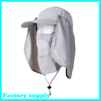 Outdoor sport 360degree summer sunscreen UV protection fishing caps bucket hat fisherman hats jungle hat camouflage cap sun hat