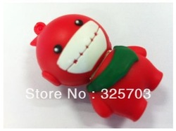 Free shipping, red lovely cartoon doll 4 gb, 8 gb, 16 gb and 32 gb flash drive usb 2.0/memory stick / car/novelty gifts U disk(China (Mainland))