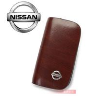Top Quality For Nissan Auto Key Case Bag Keychain Car Logo Holder Key Bag Key Ring Gifts Genuine Leather Free Ship Via HK post