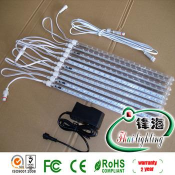 Free shipping hot sale 1lot=1set ,1set=10pcs double-sided led snow fall tube led raining tube led meteor tube