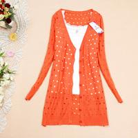 Summer medium-long cardigan sweater knitted slim thin cardigan coat WC0183