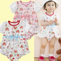 Skirt girls clothing baby bodysuit newborn baby summer 0 - 3 months old 0-1 year old