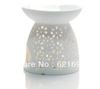 Hot selling Classic Ceramic Flower The Candle Fragrance Lamp Vaporizer Handmade Filigree Vaporizer