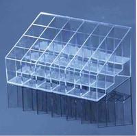 Acrylic lipstick display rack holder transparent square grid make-up holder cosmetic rack
