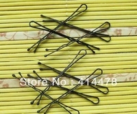 Wholesale 300pcs/lot free shipping classic daily use wave shape clips black steel wire hairpin clip hair accessory styling tools
