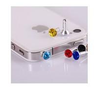 3.5mm Diamond ANTI DUST HEADPHONE JACK PLUG FOR IPHONE 4 4G 4S 3G 3GS k Universal series free shipping! (Min order$5)