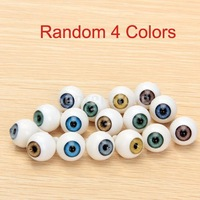 Free Shipping  8 Pcs Round Acrylic Doll Eyes Eyeballs 14mm