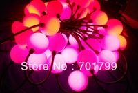 40pcs 50mm full color milky ball type led pixel module,DC12V input,3pcs 5050 RGB+WS2811