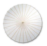 20PCS WHITE PAPER PARASOLS WHOLESALE FOR WEDDING