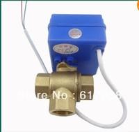 "3 way motorized ball valve 1/2"" DN15. electric ball valve.motorized valve  /freeshipping"