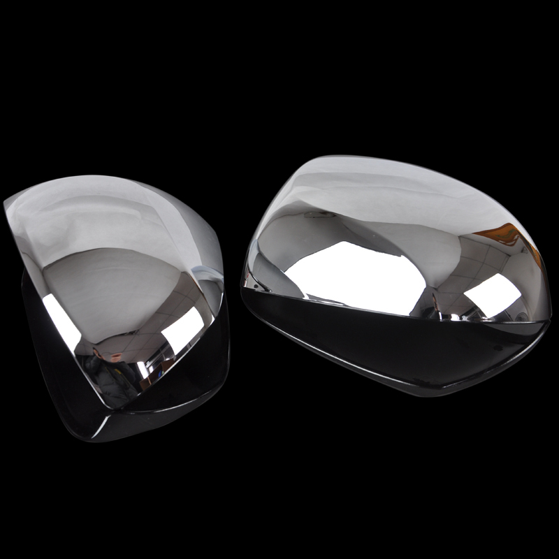 Free shipping Rearrests cover modified car abs plated mirror cover box decoration mirror cover(China (Mainland))