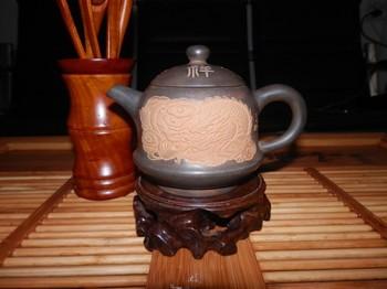 Sake teapot handmade kiln lucky pot