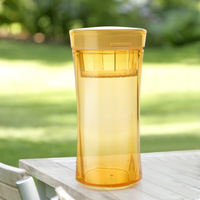 Light brief every cup of tea portable glass plastic cup leakproof portable sports portable cup