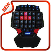 Newest !!!Colorful T9 FPS with one hand wired USB Gaming Keyboard backlight CF CS Warcraft DOTA+Free Shipping