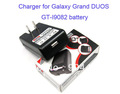Free ship 20pcs for Samsung Galaxy Grand DUOS GT-i9082 i9080 battery charger (with retail box package)