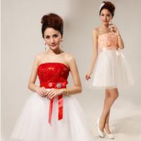 Bridal small short skirt bridesmaid dress toadyisms design short formal dress 2013 slim waist formal dress