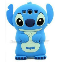 DHL Free Shipping 3D Stitch Silicone Case Cover For Samsung Galaxy S3 i9300 with Retail Package Wholesale Bulk 50pcs/Lot