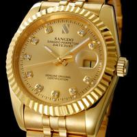 2013 new watch Mens Watch 18K gold men's gold calendar luminous automatic mechanical watches gold steel watch