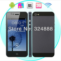 Free shipping Changjiang A5000 5S mobile phone MTK6577 5i Dual Core 1GHz 4 inch Screen Android 4.0 Smart Phone 3G WCDMA WiFi GPS(China (Mainland))