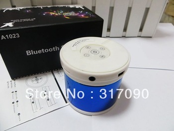 2013 A1023 bluetooth speaker support TF MP3 player with mic Answer call for iphone ipad with retail box,free shipping