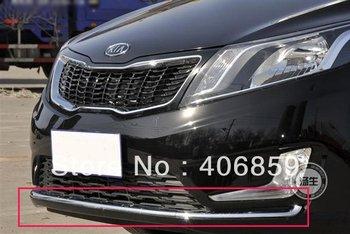 2011-2012 KIA Rio/K2 ABS Chrome Front Grille Around Trim Front bumper Around Trim Racing Grills Trim   huu